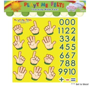 Finger Counting & Numbers 1-10 Felt Activity Set