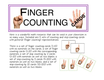 Finger Counting Resource/Math Cards