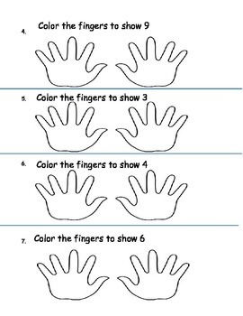 Finger Counting and Adding