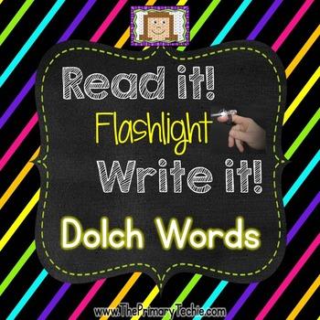 Finger Flashlight Dolch Words