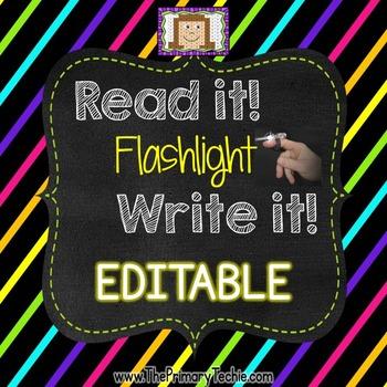 Finger Flashlight EDITABLE Version
