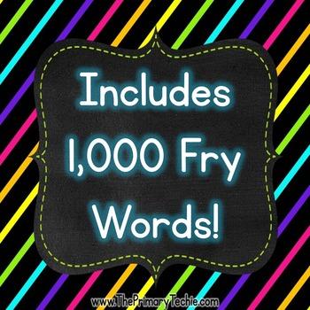 Finger Flashlight Fry Words