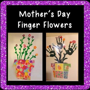 Finger Flowers Art