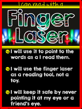 Finger Laser Rules Anchor Chart and Little Reader ~freebie~
