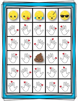 Finger Number Bingo - Emoji Edition