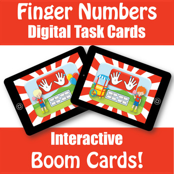 Finger Number Circus - Boom Cards