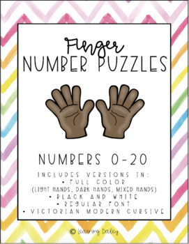 Finger Number Puzzles 1-10 Math Center