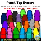 Pencil Top Erasers Clip Art for Personal & Commercial Use
