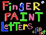 Finger Paint Letters Clip Art