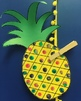 Finger Paint Pineapple Craft