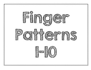FREEBIE Finger Pattern Flashes 1-10