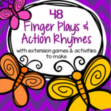 Animal Finger Plays and Action Rhymes Each with a Printable Activity 126 pages