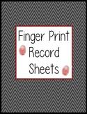 Finger Print Record Sheets