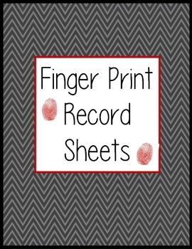 Finger Print Record Sheets