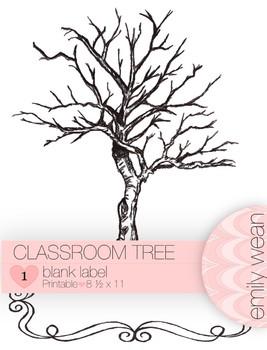 Finger Print Tree - Blank Label