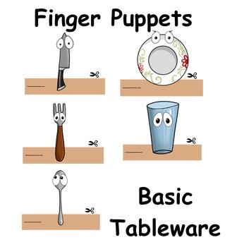 Finger Puppets: Basic Tableware