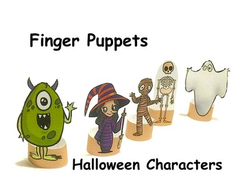 Finger Puppets: Halloween Characters