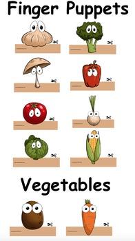 Finger Puppets: Vegetables