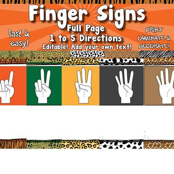 Finger Sign Posters   APT-001
