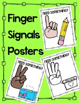 Finger Signal Posters