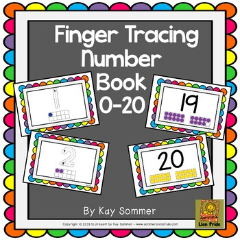 Finger Tracing Number Book 0-20