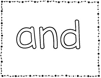Finger Tracing Sight Word Mats