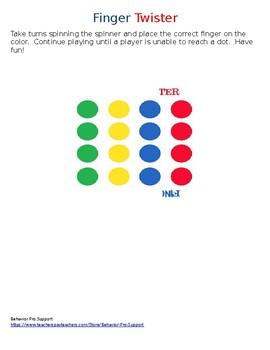 Finger Twister Board
