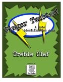 Music Centers - Finger Twister Treble Clef