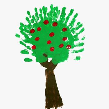 Finger painting: Harvest Tree
