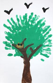 Finger painting: Summer tree