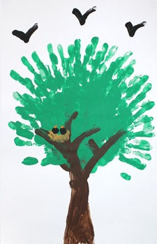Finger painting: Summer tree