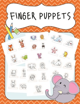 Finger puppets: Forest and Sea Animal Puppets for Story Creation Cut and Paste