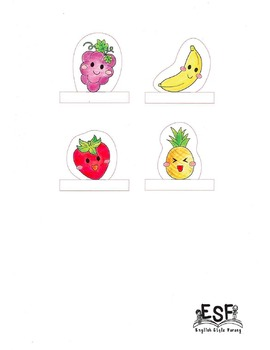 Finger puppets: Fruit & Vegetable Puppets for Story Creation Cut & Paste