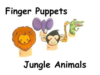 Finger puppets: Jungle Animals