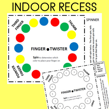 Exhilarating image with finger twister printable
