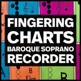 Fingering Charts for Baroque Soprano Recorder - Music Bull
