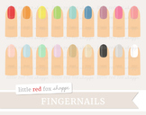 Fingernail Clipart; Nail Polish