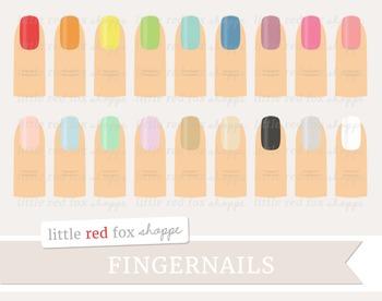 Fingernail Clipart; Nail Polish