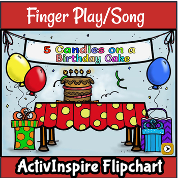 Fingerplay/Chant: 5 Candles on a Birthday Cake