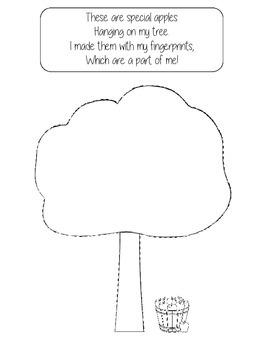 Fingerprint Apple Tree Keepsake