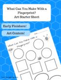 Fingerprint Art Worksheet - Great for Early Finishers or Art Center Activities