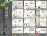 Fingerprint Calendar {Editable}
