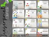 Fingerprint Calendar {Editable} Parent Christmas Gift