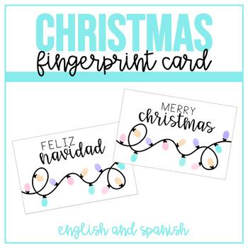Fingerprint Christmas Card