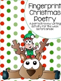 Fingerprint Christmas Carol Poetry