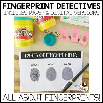Fingerprint Detective Forensics Experiment Book with Scientific Method
