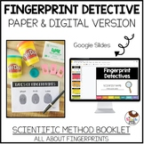 Fingerprint Detective Forensics Experiment Book with Scientific Method