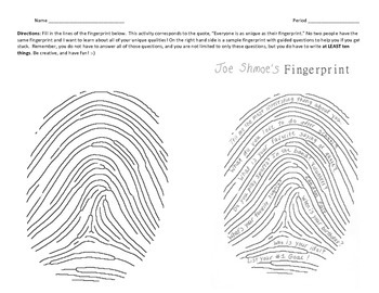 Fingerprint - Getting to Know You