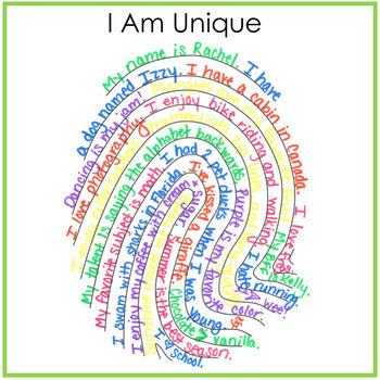 Fingerprint - I Am Unique Writing Activity