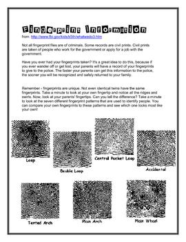 Fingerprint Identification ... by Smart Chick | Teachers Pay Teachers